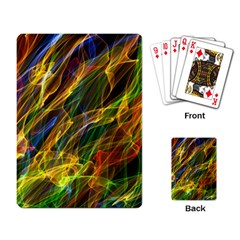 Colourful Flames  Playing Cards Single Design
