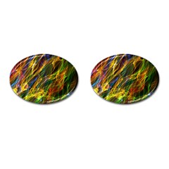 Colourful Flames  Cufflinks (Oval)