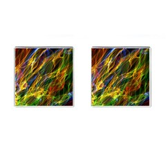 Colourful Flames  Cufflinks (Square)