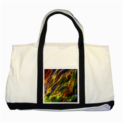 Colourful Flames  Two Toned Tote Bag