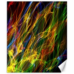 Colourful Flames  Canvas 8  x 10  (Unframed)