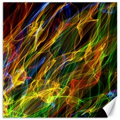 Colourful Flames  Canvas 12  x 12  (Unframed)