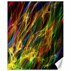 Colourful Flames  Canvas 16  X 20  (unframed)
