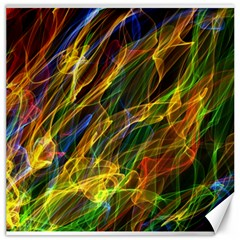Colourful Flames  Canvas 20  x 20  (Unframed)