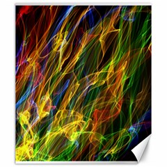 Colourful Flames  Canvas 20  x 24  (Unframed)