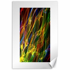 Colourful Flames  Canvas 24  x 36  (Unframed)