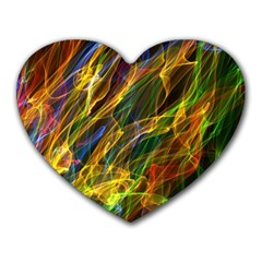 Colourful Flames  Mouse Pad (Heart)