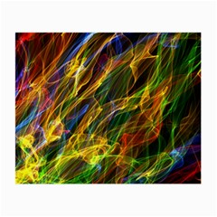 Colourful Flames  Glasses Cloth (Small, Two Sided)