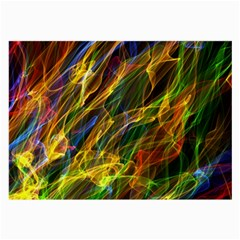 Colourful Flames  Glasses Cloth (Large)