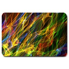 Colourful Flames  Large Door Mat