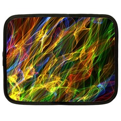 Colourful Flames  Netbook Sleeve (large)