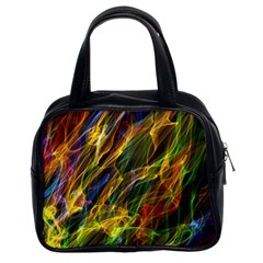 Colourful Flames  Classic Handbag (two Sides)