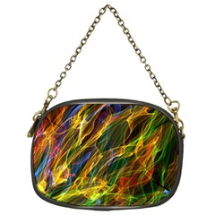 Colourful Flames  Chain Purse (one Side)