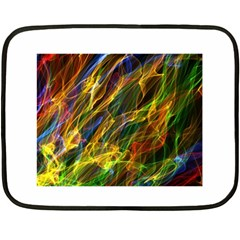 Colourful Flames  Mini Fleece Blanket (Two Sided)