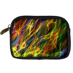 Colourful Flames  Digital Camera Leather Case