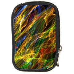 Colourful Flames  Compact Camera Leather Case