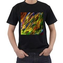 Colourful Flames  Men s T Shirt (black)