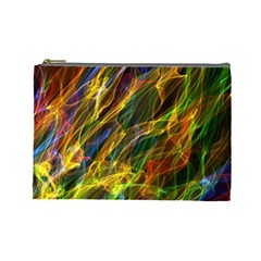 Colourful Flames  Cosmetic Bag (Large)