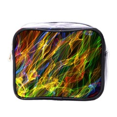Colourful Flames  Mini Travel Toiletry Bag (One Side)