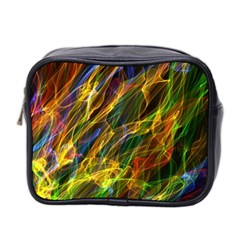 Colourful Flames  Mini Travel Toiletry Bag (Two Sides)