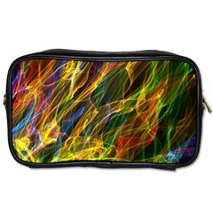 Colourful Flames  Travel Toiletry Bag (two Sides)