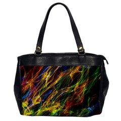 Colourful Flames  Oversize Office Handbag (one Side)