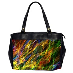 Colourful Flames  Oversize Office Handbag (Two Sides)