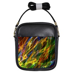 Colourful Flames  Girl s Sling Bag
