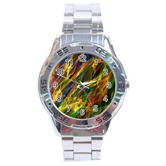 Colourful Flames  Stainless Steel Watch