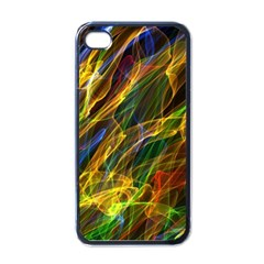 Colourful Flames  Apple Iphone 4 Case (black)