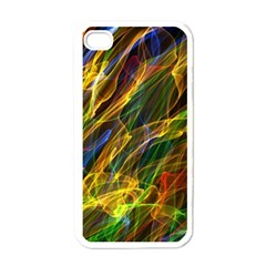 Colourful Flames  Apple iPhone 4 Case (White)