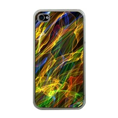 Colourful Flames  Apple iPhone 4 Case (Clear)