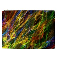 Colourful Flames  Cosmetic Bag (XXL)