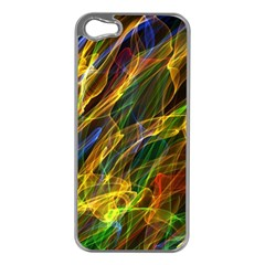 Colourful Flames  Apple Iphone 5 Case (silver)