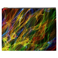 Colourful Flames  Cosmetic Bag (xxxl)