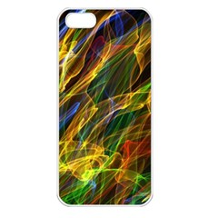 Colourful Flames  Apple iPhone 5 Seamless Case (White)
