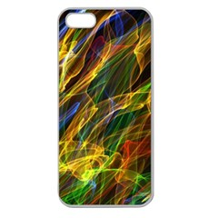 Colourful Flames  Apple Seamless Iphone 5 Case (clear)
