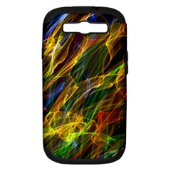 Colourful Flames  Samsung Galaxy S III Hardshell Case (PC+Silicone)