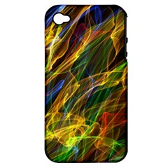 Colourful Flames  Apple iPhone 4/4S Hardshell Case (PC+Silicone)