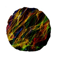 Colourful Flames  15  Premium Round Cushion