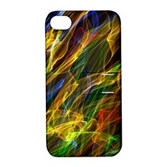 Colourful Flames  Apple iPhone 4/4S Hardshell Case with Stand