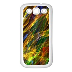Colourful Flames  Samsung Galaxy S3 Back Case (White)