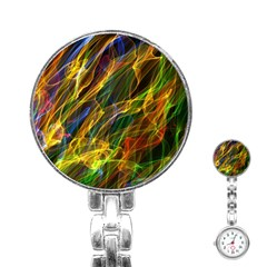 Colourful Flames  Stainless Steel Nurses Watch