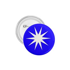 Deep Blue And White Star 1.75  Button