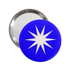 Deep Blue And White Star Handbag Mirror (2.25 )