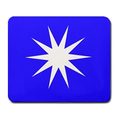 Deep Blue And White Star Large Mouse Pad (Rectangle)