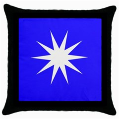 Deep Blue And White Star Black Throw Pillow Case