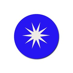 Deep Blue And White Star Drink Coasters 4 Pack (Round)