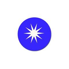 Deep Blue And White Star Golf Ball Marker