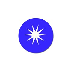 Deep Blue And White Star Golf Ball Marker 4 Pack